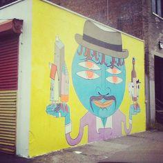 Crushing thru #bushwick #brooklyn #streetart #graffiti
