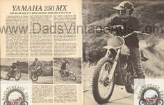 1973 Yamaha 250 MX Motorcycle Road Test 4-Page Article