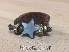 """Lederring bronze """"Star"""""""