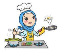Flower Hijab by Imran Ramadhan sticker Cute Wallpaper Backgrounds, Cute Cartoon Wallpapers, Muslim Greeting, Feeling Pictures, Cartoon Chef, Hijab Drawing, Islamic Cartoon, Emoji Images, Anime Muslim