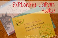 Creating a home that's nourishing, creative, and fun with all of the best kid's activities, crafts, and recipes. Japanese Haiku, Japanese Symbol, Japanese Kanji, Forms Of Poetry, Poetry Unit, Japanese Curry, Japanese Food, Curry Rice, Japan Country, Bodice, Projects, Japanese Dishes