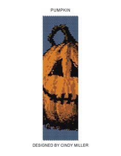 Pumpkin Peyote Bracelet Pattern Buy 2 by JewelryPatternsPlus