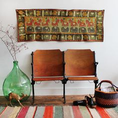 Cotton Applique Wall Tapestry of Animals Theater Seating, Childrens Room Decor, Inspired Homes, My Dream Home, Wall Tapestry, Valance Curtains, A Table, Applique, Art Pieces