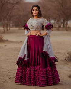 Latest Collection of Lehenga Choli Designs in the gallery. Lehenga Designs from India's Top Online Shopping Sites. Indian Wedding Outfits, Bridal Outfits, Indian Outfits, Desi Wedding Dresses, Engagement Outfits, Bridal Dresses, Bridesmaid Dresses, Lehenga Choli Designs, Designer Bridal Lehenga