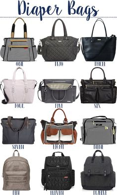 A diaper bag or nappy bag is a storage bag with many pocket-like spaces that is big enough to carry everything needed by someone taking care of a baby while taking a typical short outing. Diaper Bag Purse, Best Diaper Bag, Baby Diaper Bags, Cool Diaper Bags, Chic Diaper Bag, Big Handbags, Luxury Handbags, Trendy Handbags, Best Baby Bags