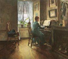 At Home, 1887 ~ Harriet Backer ~ (Norwegian: 1845-1932)