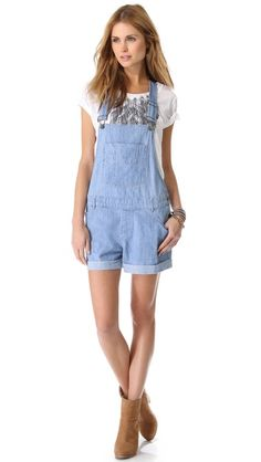 Haute Hippie Chambray Overalls ,,,YES PLEASE!