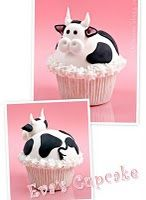 Food art - cow cupcakes  LOVE THEM COWS ! !