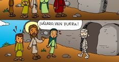 Dibujos para catequesis: JESÚS RESUCITA A LÁZARO