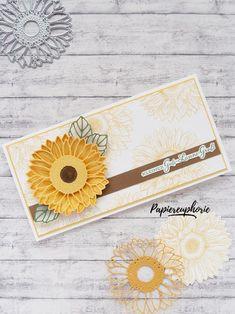 Karte Sonnenblumen Gute Laune Gruß card celebrate sunflowers #diycards #crafting #astridspapiereuphorie #stampinup #stampinupösterreich #stampinupdemo #stampinupwien #kreativmitpapier #diy #handemadecards #cardmaking #paperlove #sonnenblumen #sunflowers #gutelaunegruss #einfachso ##celebratesunflowers #bastelnmachtspass #diycards #creative #diykarten #papierliebe #birthdaycard # Stampinup, Continental Wallet, Creative, Paper, Good Mood, Sunflowers, Cards