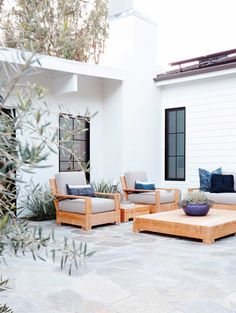 socal patio // maggie pierson design Could DIY that patio furniture?