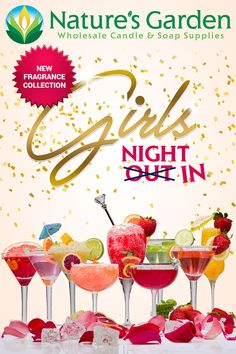 Girls Night Out (In) Fragrance Oil Collection by Natures Garden. Upscale Girly Cocktail Fragrances!