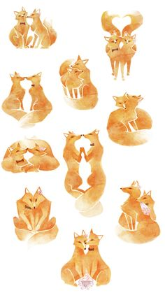 Foxes for a Wedding on Behance