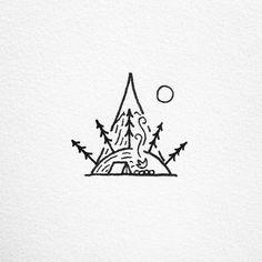 Camp scene doodle