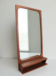 Teak Shelved Mirror, Denmark