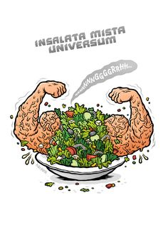 Pizzeria Disgusto | Design made in Austria – Insalata Mista Universum – Illustration