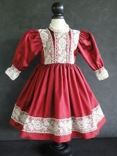 "French Doll Dress - Antique Style for Jumeau 18-20""doll - Made in France."