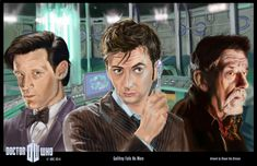 Doctor Who 50th anniversary. Digital paint.