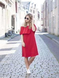 Red ruffles | Style by Jules