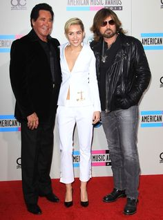 Braless Miley Cyrus in Versace and Saint Laurent Pumps