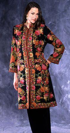 kashmir embroidery jacket