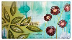 Floral Set 1 Checkbook Cover a