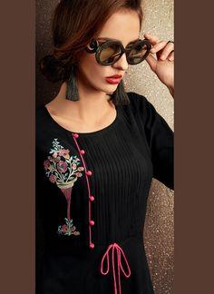 Kurti Neck Designs, Kurti Designs Party Wear, Dress Neck Designs, Salwar Designs, New Kurti, Hand Work Design, Kurti Collection, Ethnic Wear Designer, One Piece Outfit