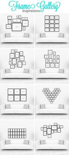gallery wall ideas to transform any room, home decor, wall decor, Layouts by Timeless Frames