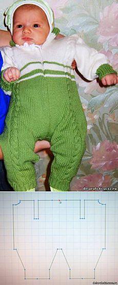 Комбинезон для новорожденного или грудничка.(на машине,одношовный)