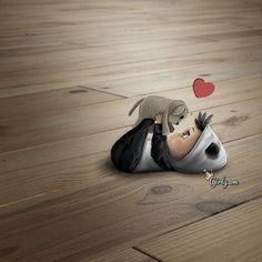 Girly_m Illustration~ Cute! Cute Cartoon Pictures, Cute Love Cartoons, Girly Pictures, Cartoon Pics, Girl Cartoon, Cartoon Art, Girly M Instagram, Girly Drawings, Digital Art Girl