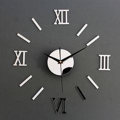 DIY Home Decor Clock Vinyl Stick & 3D Stickers Art Time Wall Watches