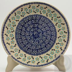 "10"" Dinner Plate (heavenly Blue) from The Polish Pottery Outlet"