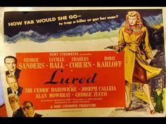 Lured (1947) Film Noir, George Sanders, Lucille Ball, Charles Coburn, Bo...