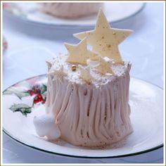 キャラメルの切り株ケーキ