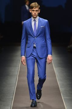 Canali Men's RTW Spring 2014 - I don't think a lot of men could pull this off but its a beautiful suit.