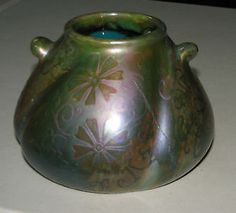 Weller Pottery Large Sicard Bulbous Twist Vase Luster Iridescent Colorful Glaze | eBay