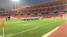 The Socceroos on their final training session at the National Stadium in preparation for tonight's World Cup qualifier against Thailand which is playing in memory of recently deceased and revered King Bhumibol. (Photo by Murray Shaw). 15.11.16