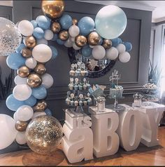 Listing is for its a BOY Table Base Foam Letters (Photo above is 16 deep letters). Photo credit to Elevation Party Renta Baby Shower Decorations For Boys, Boy Baby Shower Themes, Baby Shower Balloons, Baby Shower Centerpieces, Princess Centerpieces, Baby Shower Parties, Baby Showers, Birthday Centerpieces, Baby Shower Dresses