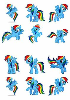 12 My Little Pony Rainbow Dash Edible Cup Cake Toppers Birthday Decorations -- See this great product. (This is an affiliate link) Decorating Tools, Cookie Decorating, Edible Cups, Chocolate Covered Strawberries, Birthday Cake Toppers, Rainbow Dash, Tool Set, Baking Ingredients, Birthday Decorations