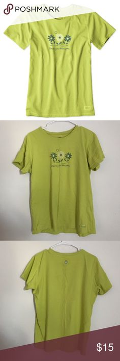 Women's Life is Good shirt large life is good count your blossoms shirt in good condition size large Life Is Good Tops Tees - Short Sleeve
