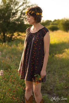 Must make! Sew a Peasant Dress - Boho Baby Doll Dress for Women - Free pattern and tutorial from Melly Sews