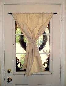 Beau The Birdu0027s Papaya: How To Hang A Curtain Rod On Your Front Door (without