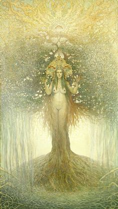 the mysterious dryads revealed. Dryads in art The Magic Faraway Tree, Mother Nature Tattoos, Tattoo Nature, Kunst Online, Goddess Art, Earth Goddess, Sacred Feminine, Visionary Art, Gods And Goddesses
