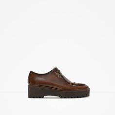 ZARA - WOMAN - FLAT LEATHER PLATFORM SHOES