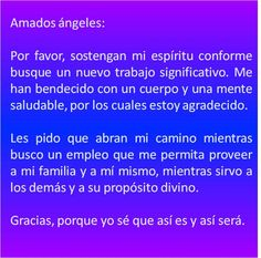 #UniversoDeAngeles Oración a los ángeles para encontrar trabajo.