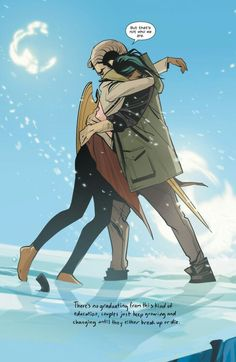 Alana and Marko from Saga published by Image.