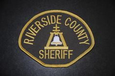 Riverside County Sheriff Patch, California