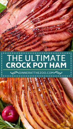 Slow Cooker Ham Recipes, Crockpot Dishes, Crock Pot Cooking, Pork Recipes, Mexican Food Recipes, Crockpot Recipes, Cooking Recipes, Slow Cooker Smoked Ham, Baked Ham Recipes