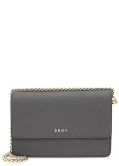 DKNY Bryant Park Dark Grey Leather Cross Body Bag - £170.00 e75b7ae538d