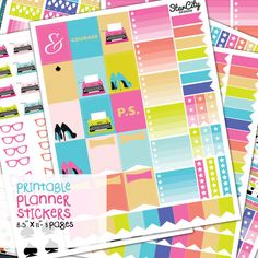 Printable Planner Stickers Printable Planner by StarCityDesigns